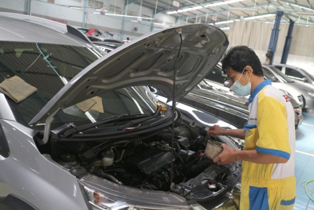 Honda Anugerah Body & Paint Engine Cleaning